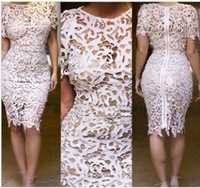 NWT openwork embroidery sexy bandage dress package hip clothing
