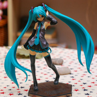 Free Shipping 18cm/7'' Vocaloid Hatsune Miku 1/8 Scale Painted Sexy Girl Figures PVC Action Figure Toy