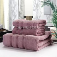 Towel Set, 100% Bamboo fiber 2Face towel*35x75CM/ 1Bath Towel*140x70CM, Bamboo towel Set, Terry&Soft, Purple/Silver/Coffee ,650g