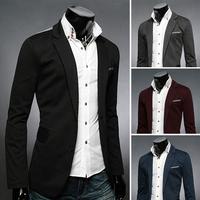 2014 Fashion men cloth  four colors decoration fashion slim blazer for x2 Men's Clothing Suits Blazer  free shipping