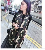 2014 new fashion  Army Green Camo cotton long scarves big shawl wrap