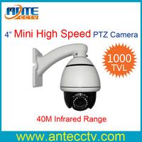 1000TVL 10 X Zoom PTZ Camera Vandal-Proof Mini High Speed PTZ Dome Security Camera