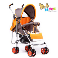 Free shipping portable baby stroller baby bike foldable Aluminum alloy 4 wheels for 0-18months baby Vibration Systen