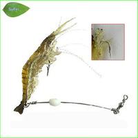 L158S 4 pcs/ lot 10cm 6g luminous soft natural shrimp lures with hook luminous beans soft bait soft fishing lure Free shipping