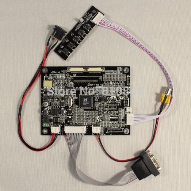 VGA+AV Lcd Controller board KYV-N2 V2 work for 8inch AT080TN42 800*600 lcd panel(China (Mainland))