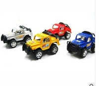 FREE SHIPPING,Child's Educational toy pull back toys plastic toy car Jeep , 2pcs/lot