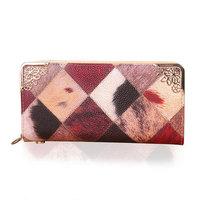 2014 Fashion Brand Design Vintage Wallet Women's PU Clutch Wallets Zipper Money Bag Purse BB0951