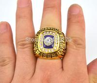 Men ring Replica 18k gold 1987 - 1988 Basketball World Series Championship ring Free Shipping
