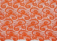 5 Yards orange Soft 100% Cotton guipure lace fabric chemical french lace high quality 9018