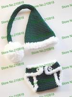 Free shipping Crochet Santa Hat Diaper cover set, baby Santa Set skirt newborn photo prop