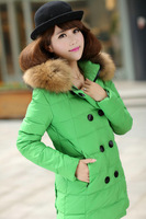 2014 Winter down coats jackets plus big size Parka women's coat and long jacket new fashion thick women hooded outerwear