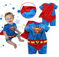 Superman Batman Baby Infant Kid Child Toddler Onesie Bodysuit Jumpsuit Outfit Cloth One-Piece Suit Coverall Fancy Dress