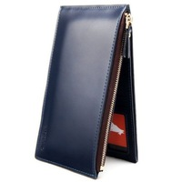 Mens Long Faux Leather ID Credit Card Iphone Holder Clutch Bifold Cash Coin Purse Wallet