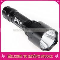 UltraFire C8 1000 Lumens CREE Q5 Light 5-mode LED Flashlight Torch + Strap 5pcs/wholesale