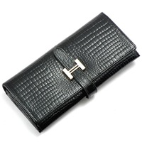 Women Clutch Wallets Letter Genuine Leather Wallet Alligator Wallets European and American Style Women Purses Card Holder Bag