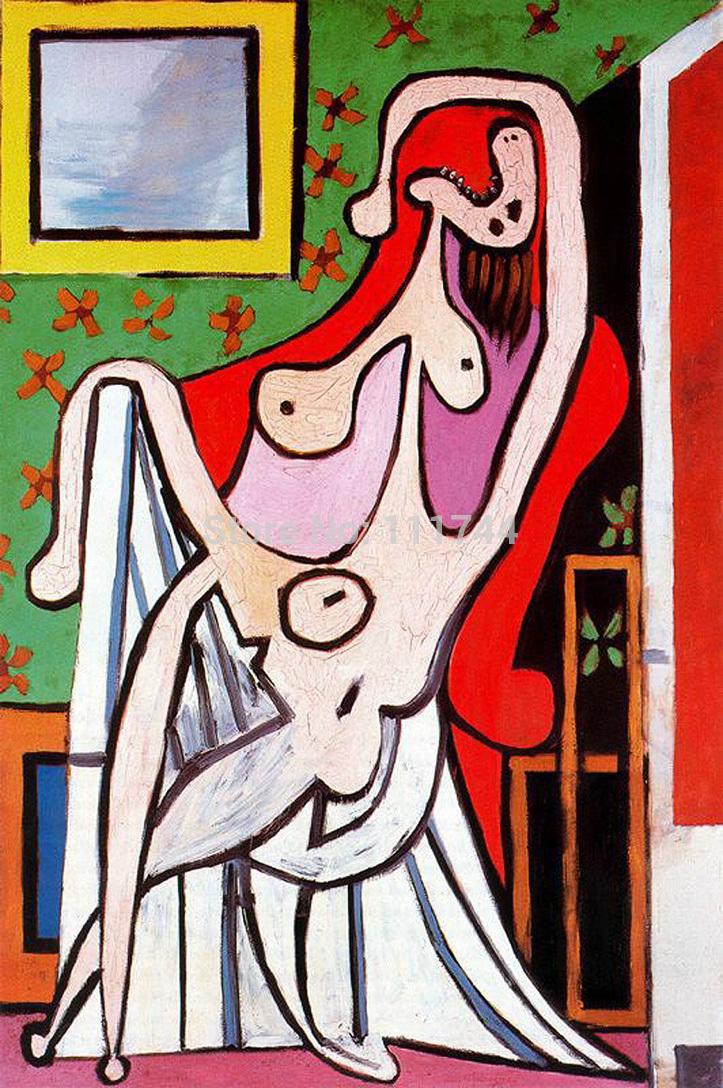 Picasso Mulher Abstrata Pintura Oacute Leo Sobre Tela