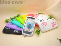 Min.order is$10 (mix order)Durable Colorful Silicone Block color Antiskid Ruber Case Cover For Lenovo a520 + screen film