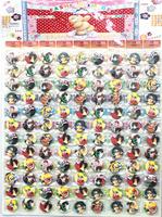 Wholesale - 1sheets 108pcs Naruto  Badge Button Pin 2.5CM party favor  Free Shipping