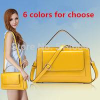 Solid Color Genuine Leather Women Cross Body Handbag Fashion Elegant Cowhide Shoulder Bag New Hot 6 Colors