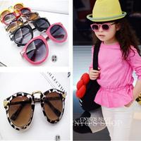 Kids Boy Girl Metal Frame Round Arrow Sunglasses Retro Eyewear Eyeglasses UV400 Free shipping & Drop shipping
