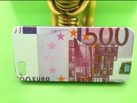 350pcs/lot IMD USD EURO money design cover skin shell case money PC cheap case for iphone 5 iphone5 5G