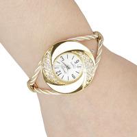 new 2014 fashion women female steel special rhinestone clock bracelet classic cute white wrist quartz watch 442501
