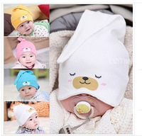Free shipping Child Sleep hat Newborn cap The baby kit lens cap Baby Cotton Cap