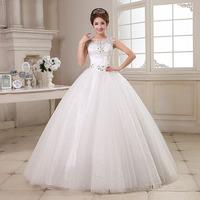 2014 double-shoulder straps the bride wedding dress formal dress diamond lace plus size slim hunsha