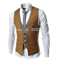 Male vest casual vest faux two piece men's british style vest suit vest 3954