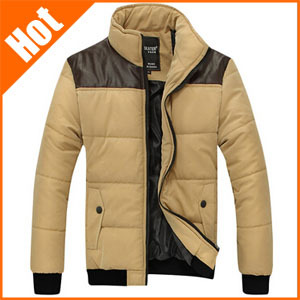 New 2014 Men's winter coat thick Slim thin fashion men outdoor jacket Down & Parkas Khaki Black Green Plus Size M L XL XXL XXXL()