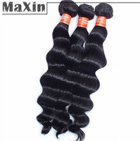 5A Quality 100% Indian Hair Virgin Natural Black 1B Loose Deep Wave Weft Human Hair Extension Weaving 3pcs/lot 100g