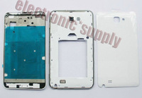 Wholesale-30pcs/lot Original Note housing case faceplates frame back cover for Samsung Galaxy Note N7000 i9220 cell phone