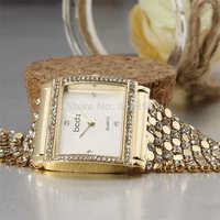 2014 new fashion wristwatches crystal rhinestone case luxury steel Mosaics chain strap bracelet women dress quartz watches
