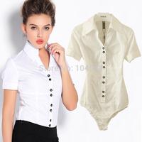 autumn new style V-Neck Fashion OL Short sleeve office lady Occupation body shirt blouse Free shipping bodysuits shirt vciv09