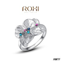 2014 Anel Lord Of The Rings Roxi Christmas Gift Classic Genuine Austrian Crystals Fashion Kiss Fish Ring 100% Man-made Big Off
