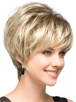 Natural Light Blonde Straight Short Hair Wigs Women\'s Fashion Wig