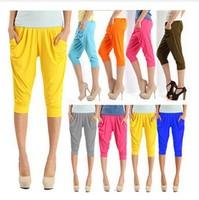 2014 New Harem Pants Female Sports Women's Skinny Long Seven Short Summer Trousers Free Shipping