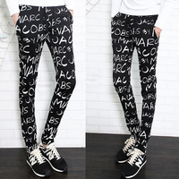 Free shipping! New men's fashion Slim letters printed knit pants casual pants Guardian