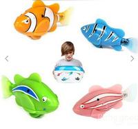 free shipping Novel Colorful Robo fish Emulational Toy Robot Fish,Electronic pets Creative Kids  toys electronic pets fish