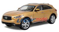 1 pca /lot 1:18 Original  Infiniti QX70 2013 die-cast Model Car (high quality) Gold (New arrival)