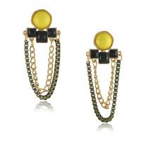 2014 Earrings Chain And Resin Earring Wholesale Jewelry Earrings Sale In Europe And America Ol Female Personality Tassel Office