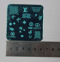 Free shipping 5Pc/lot 5Design 62MM Nail Tool Art Stamp Stamping Stainless Steel Image Plate Design Template A series