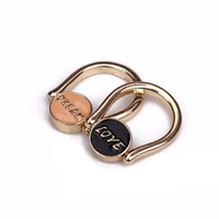 2014 free shipping Dream love gold rings enamel painting size 7# 17mm R002
