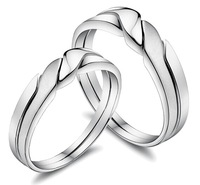 Platinum lovers ring male finger ring female 8 - 25 lovers gift
