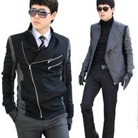 Fashion men fashion turn-down collar slim jacket male outerwear 3706