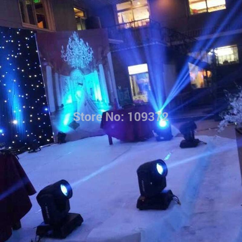 Free Shipping 2PCS Brand New 200W DMX 5R Beam Moving Head Light Stage Lighting +1 Flight Case(China (Mainland))