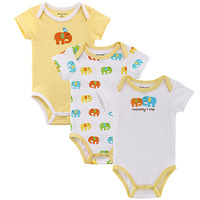 3 Pieces/lot Fantasia Carter Baby Romper Infant Jumpsuit Bebe Overall Short Sleeve Body Suit Baby Clothing Set Summer Cotton100%