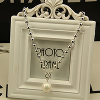 2014 new pearl necklace female short paragraph temperament European and American fashion simple  necklace