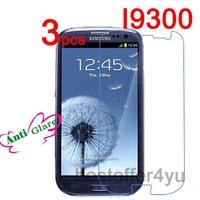 3pcs Matte Anti-glare Anti Glare i9300 Screen Protector Guard Film For Samsung Galaxy S3 SIII i9300 Protective Film + cloth