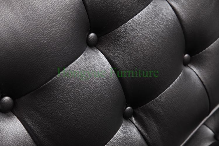 Modern black genuine leather living room sofa furniture supplier(China (Mainland))
